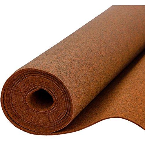 Filz, Filzstoff, Dekorationsfilz, imprägniert, Breite 100 cm, Dicke 4 mm, Meterware 0,5 lfm – melange orange