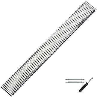 MARBURGER-Uhrenarmband-20-mm-Edelstahl-Silber-Uhrband-Set-86601200020