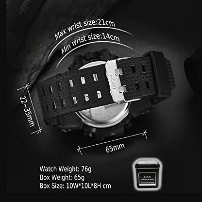 BINZI-Herren-Wasserdichte-Sportuhren-Digital-Multifunktions-Analog-und-Quarzuhr-Handgelenk-mit-Stoppuhr-Wecker-Woche-Datum-Schwarz-Silikon