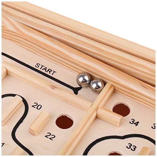 Sharplace-Kinder-Holzspielzeug-Holz-Labyrinth-Brettspiel-Denkspiel-Geschicklichkeit-Spielzeug