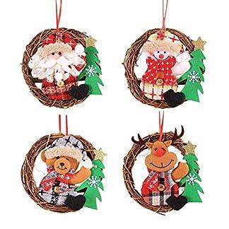 True-Ying-Kreative-Weihnachtskranz-Tr-hngen-Trompete-Weihnachtsbaum-Dekoration-Weihnachten-kleine-Figur-Rattan-Kranz-Rattan-Anhnger-Weihnachtsdekoration