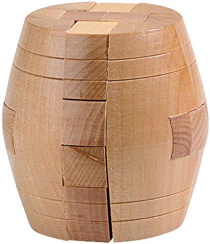 Playtastic-Holzspielzeug-Geduldspiel-Fass-aus-Holz-Knobel-Spiel