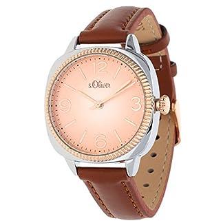 sOliver-Damen-Armbanduhr-Analog-Quarz-Leder-SO-15135-LQR