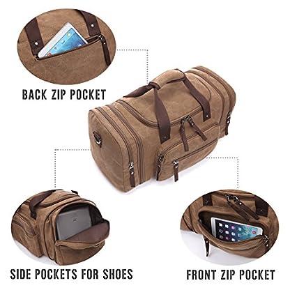 LOSMILE-Canvas-ReisetascheWeekender-Tasche-Sporttasche-Handgepck-fr-Damen-und-Herren-mit-der-Groen-Kapazitt
