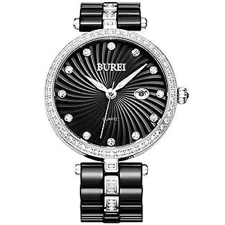 BUREI-Elegante-Damen-Quartz-Armbanduhr-mit-Keramikarmband-und-Diamantgehuse-Datum-Kalender