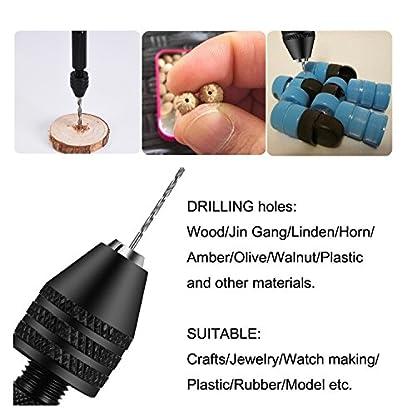 Mini-Micro-Aluminium-Handbohrmaschine-mit-Keyless-Chuck-10pcs-Twist-Bohrer-Bits-Rotary-Tools