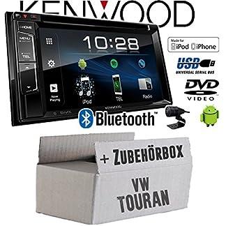 Autoradio-Radio-Kenwood-DDX318BT-2DIN-Bluetooth-DVD-USB-CD-MP3-Einbauzubehr-Einbauset-fr-VW-Touran-JUST-SOUND-best-choice-for-caraudio