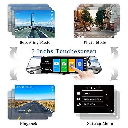 2019-Version-CHORTAU-Spiegel-Dashcam-7-Zoll-Touch-Screen-Full-HD-1080P-Weitwinkel-Frontkamera-und-Wasserdichte-Rckfahrkamera-Auto-Kamera-mit-NotrufaufzeichnungReverse-Monitor-System