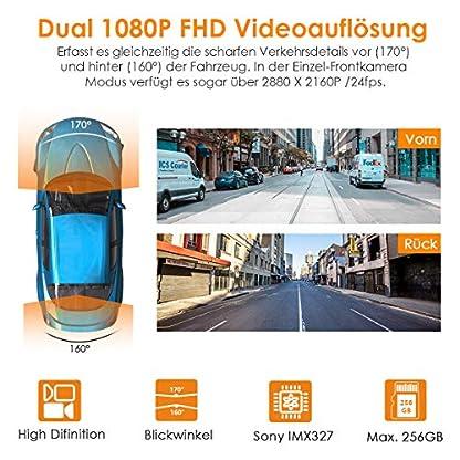 VANTRUE-S1-Dual-1080P-GPS-Dashcam-Auto-Kamera-2880x-2160P-vorne-Prima-Nachtsicht-bei-Sternenlicht-2-Zoll-330-Hitzebestndig-Superkondensator-KFZ-Autokamera-Dash-Cam-Parkmodus-G-Sensor-Max-256GB