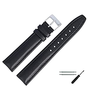 MARBURGER-Uhrenarmband-18mm-Leder-Schwarz-Uhrband-Set-2891810000120