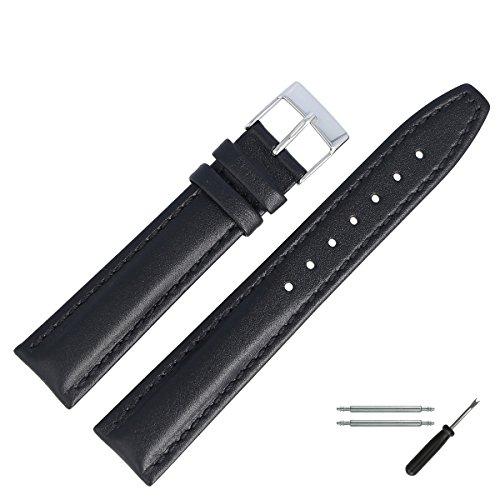 MARBURGER-Uhrenarmband-18mm-Leder-Schwarz-Uhrband-Set-2891810000120