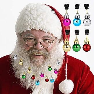 Allbesta-Weihnachten-Bartschmuck-16-Stck-Bart-Kugeln-12-Bunte-Weihnachtskugeln-und-4-Frhlich-Klingelnde-Glckchen-Weihnachtsmann-Clipverschluss