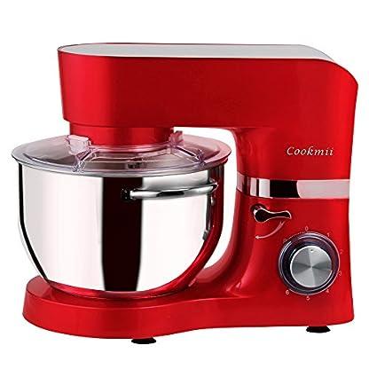 Cookmii-Geruschlos1500W-Kchenmaschine-Rhrmaschine-Knetmaschine-6-Geschwindigkeit-55-L-mit-Edelstahlschssel-Teigmaschine