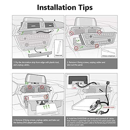 eonon-GA9203NB-Android-81-passend-fr-BMW-F30-F31-F34-F35-F32-F33-F36-2G-RAM-32G-ROM-1025-Zoll-Touchscreen-GPS-kompatibel-iDrive-System-Lenkradsteuerung-Factory-Autoradio-DVD-Bluetooth-Verbindung