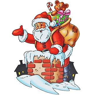 alles-meinede-GmbH-XL-Fensterbilder-Weihnachtsmann-Schornstein-Winter-Weihnachtsmotive-statisch-haftend-selbstklebend-wiederverwendbar-Weihnachten-Geschenk