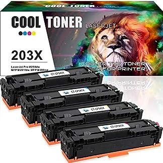 Cool-Toner-4-Pack-Kompatibel-fr-HP-203X-Toner-CF540X-CF543X-HP203X-HP203A-203A-CF540A-fr-HP-MFP-M281-M280-M254-M254dw-M254nw-M280nw-M281fdw-M281fdn-M281cdw-Laserdrucker-Farblaserdrucker