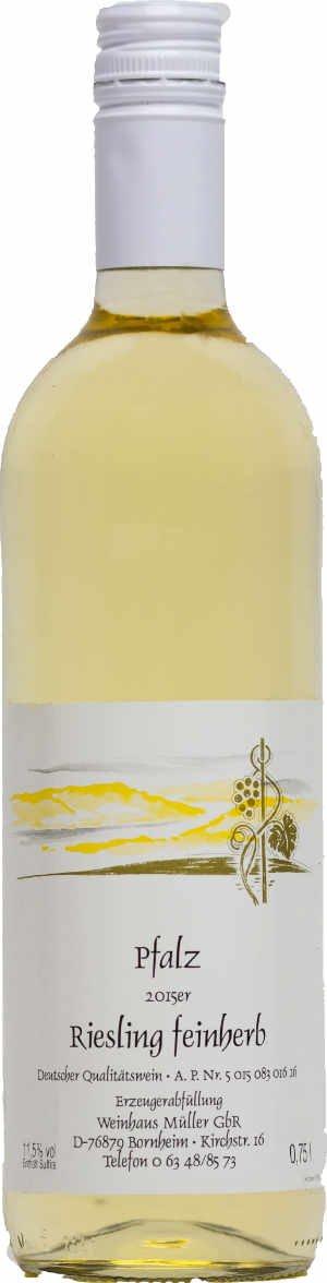 Pflzer-Weiwein-Riesling-feinherb-1-x-075-L-Flasche-direkt-vom-Winzer