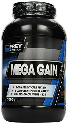 Frey Nutrition Mega Gain Erdbeer Dose, 1er Pack (1 x 3 kg)