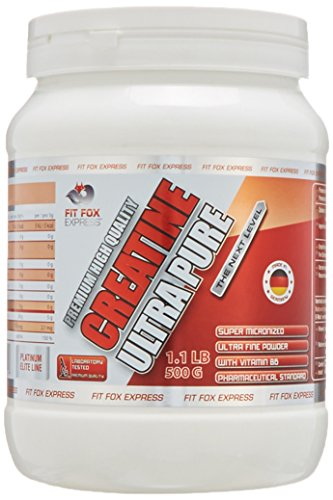Fit Fox Express – Creatine Monohydrat Pulver, 500g Dose, Premium High Quality Ultra Pure