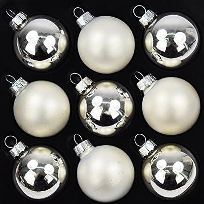 9er-Set-Weihnachtskugeln-Echtglas-Kugeln-Glaskugeln-Weihnachten-Weihnachtsdeko-Christbaumkugeln–4-cm-Silber-5-x-glnzend-4-x-matt