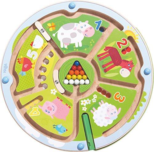 HABA-301473-Magnetspiel-Zahlenlabyrinth-Wunderschn-illustriertes-Baby-und-Kleinkindspielzeug-ab-2-Jahren-Lernspiel-aus-Holz