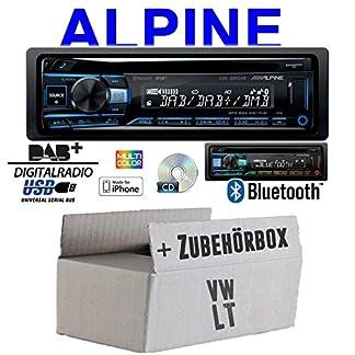 Autoradio-Radio-Alpine-CDE-205DAB-Bluetooth-DAB-CDUSBMP3-Multicolor-Apple-Android-Einbauzubehr-Einbauset-fr-VW-LT-JUST-SOUND-best-choice-for-caraudio