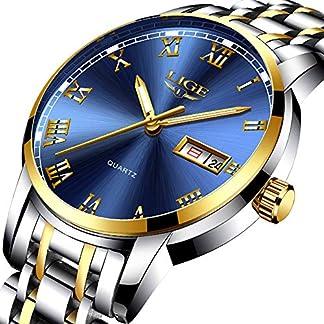 LIGE-Herren-Armbanduhr-wasserdicht-analog-Quarz-Edelstahl-lssig-modisch-Sport-Gold-Blau-Business-Kalender-Armbanduhr-fr-Herren