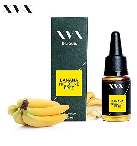 XVX E-Liquid  Banane Geschmack  Elektronisches Liquid Für E-Zigarette  Elektronische Shisha Liquid  10ml Flasche  Nadelspitze  Präzise Befllung  Wähle Deinen Lifestyle  Neu Für 2016  Digitaler Rauch  Nikotinfrei  Tabakfrei