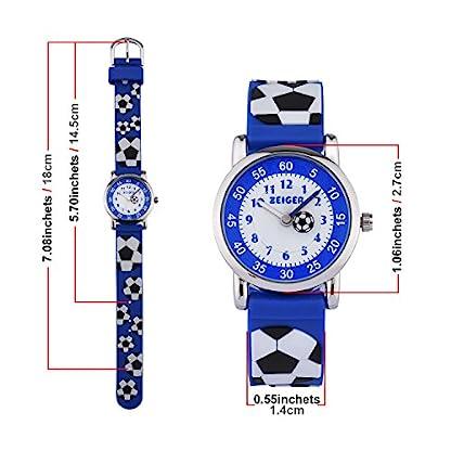 20f9d79f6f ▻ Günstig KZKR Kinderuhr Fußball Jungen Armband Uhr Kinder Armbanduhr Blau  Sportuhr Lernuhr K091 von KZKR Uhren - Deals