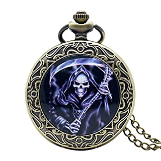 Retro-Taschenuhr-Tod-Design-Taschenuhr-und-Geschenk-fr-Herren-Smart-Dead-Thema-Bronze-Taschenuhr-mit-Kette-Halskette