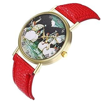 Sepbear-Unisexuhr-Casual-Einfach-Elegant-Mode-Analog-Quarz-Armbanduhr-mit-Engel-Zifferblatt-und-Leder-Armband-Uhr