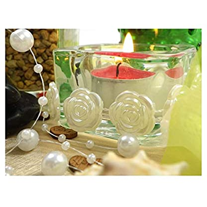 Sepkina-Perlenband-Perlenkette-Perlengirlande-Perlenschnur-Weihnachten-Advent-Hochzeit-Deko-Tischdeko-Meterware