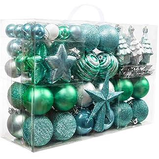 Valery-Madelyn-Weihnachtskugeln-100-TLG-Kunststoff-Christbaumkugeln-Baumschmuck-Weihnachtsdeko-mit-Baumspitze-und-Aufhnger-Dekoration-MEHRWEG-Verpackung