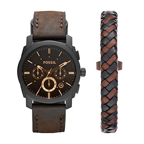Fossil-Herren-Uhren-FS5251SET-Schwarz