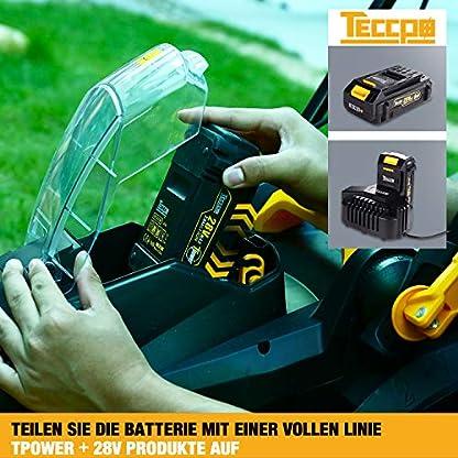 TECCPO-Rasenmher-28V-20Ah-Rasenmher-35L-Grassack-330-mm-Schnittbreite-fnf-Arten-einstellbare-Schnitthhe-dreifacher-Sicherheitsstart-TDLM02G