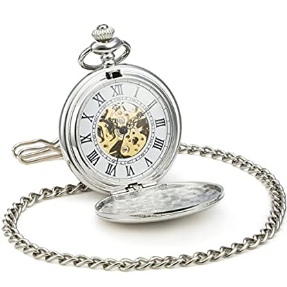 SEWOR-klassischen-Muster-mechanische-Hand-Wind-Taschenuhr-Bestes-Leder-Geschenk-Box