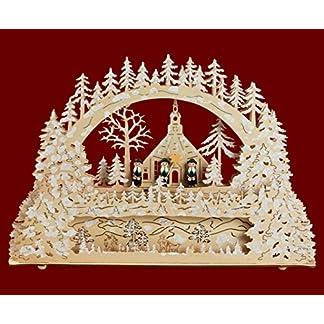 yanka-style-LED-Schwibbogen-Lichterbogen-Leuchter-Seiffener-Kirche-Kurrende-aus-Holz-mit-PodestUnterstellbank-ca-45-cm-breit-Trafobetrieb-mglich-Weihnachten-Advent-Geschenk-93522