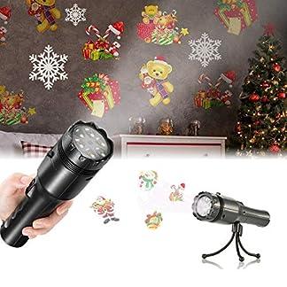 Led-Projektor-Lampe-Sendowtek-Projektionslampe-mit-12-Folien-2-In-1-Dekoration-Licht-und-Tragbar-Taschenlampe-fr-Erwachsene-Kinder-PartyGeburtstagFestival