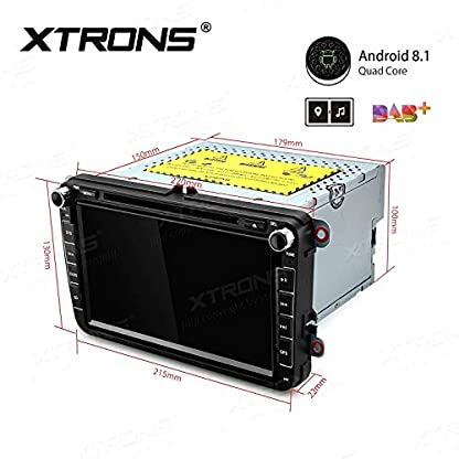 XTRONS-8-Autoradio-mit-Touch-Screen-Android-81-Quad-Core-Multimedia-Player-Autostereo-4G-Full-RCA-Ausgang-Bluetooth-Auto-Musik-Streaming-16GB-ROM-DAB-OBD2-FR-Volkswagen-SEAT-Skoda