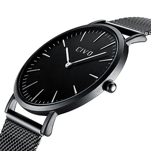 CIVO-Herren-Damen-Unisex-Uhren-Ultra-Dnne-Minimalistische-mit-Edelstahl-Mesh-Armband-Wasserdicht-Luxus-Mode-Armbanduhr-Elegant-Geschfts-Beilufig-Analog-Quarz-Uhren