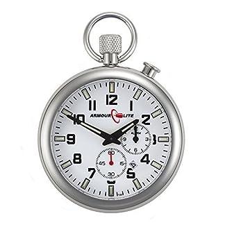 ArmourLite-AKPW01-Taschen-Uhr-T25-Schweizer-Tritium-Indizes-46-mm-Stahlgehuse-Saphierglas