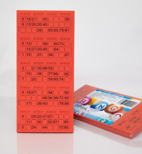 Bingo-Ticket-Block-System-15-aus-90-Kugeln-rot