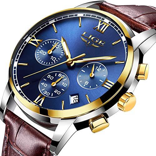 Herren-Fashion-Business-Quarzuhr-Lige-Classic-Casual-Analog-Sport-Armbanduhr