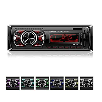 Autoradio-mit-Bluetooth-Freisprecheinrichtung-bedee-MP3-Autoradio-1-Din-USB-Digital-Media-Receiver-mit-SWC-Fernbedienung-7-LED-Farben-SDAUXFM-Radio-Universal-fr-AndroidiPhoneiPod-Play