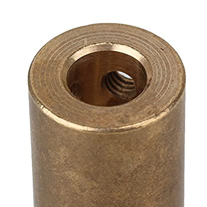 D16L22-Messing-Motor-Verbinder-Rad-starre-Schaftkupplung-8-x-8-mm-goldfarben-2-Stck