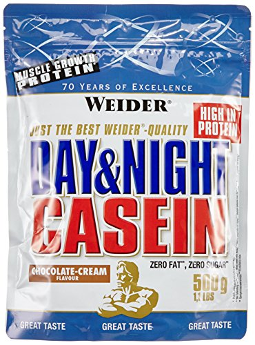 Weider Day und Night Casein Beutel 2er Mix Pack, Schoko-Sahne, 2 x 500 g (1 x 1 kg)