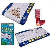 Bada-Bing-23-TLG-Luftmatratze-mit-Integriertem-Trinkspiel-Pool-Pong-Ca-152-x-76-cm-Partyspiel-Aufblasbar-Bier-Pong-Beer-Spiel-Partyspiel-Fr-Unterwegs-JGA-25