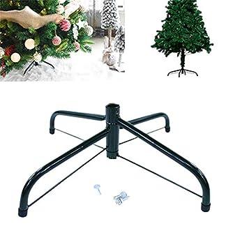 Opfury-Weihnachtsbaum-Stehen-fr-30cm-40cm-60cm-Fu-knstliche-Baum-Faltung-Metall-Eisen-Baum-Halter-Christbaumstnder-Grn-Metall-Halter-Base-Gusseisen-Stand