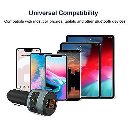Bluetooth-FM-Transmitter-ZeaLife-Auto-Radio-Transmitter-QC-30-KFZ-Wireless-Bluetooth-FM-Radio-Adapter-Freisprecheinrichtung-Car-Kit-mit-Dual-USB-Ladegert-Untersttzt-64GB-USB-Stick