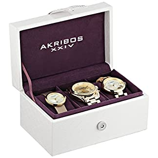 Akribos-XXIV-Armbanduhr-AK738YG-Analog-Schweizer-Quarz